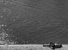 Sunbather on the Seine